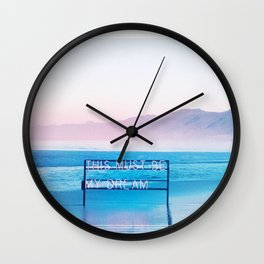 This Must Be My Dream Pastel Paradise Beach Vibe Wall Clock
