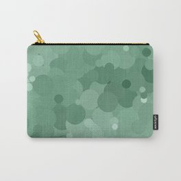 Grayed Jade Bubble Dot Color Accent  Carry-All Pouch