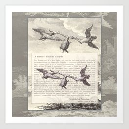 Fable of the Ducks and the Turtle Queen Art Print
