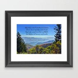 Psalms 121:1-2 Framed Art Print