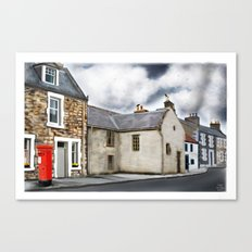 Traditional Houses in Elie, Kingdom of fife, Scotland [Digital Architecture Illustration] Canvas Print
