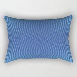 Hypnotic Geometric Maze (Royal/Pool) Rectangular Pillow