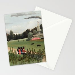 Landscape and Four Young Girls, Henri Rousseau, 1895 Stationery Cards