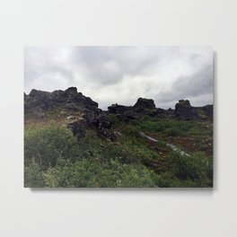 Dimmuborgir Lava Maze in the Mývatn Area of Northeast Iceland (2) Metal Print