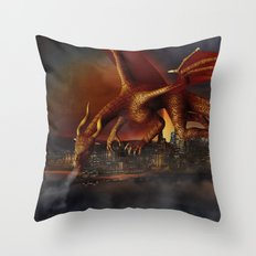 Dragon Attack Throw Pillow