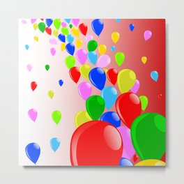Fly Away Balloons Metal Print