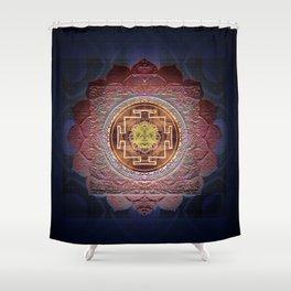 Sensual Flow Lakshmi Meditation Mandala Shower Curtain