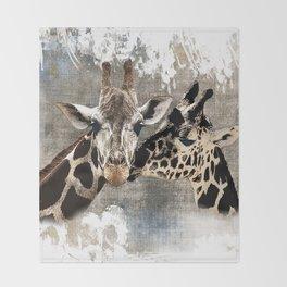 Snuggle Bug Giraffes Throw Blanket