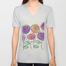 Half A Dozen Roses Unisex V-Neck