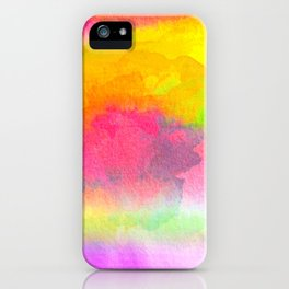 Colorful Watercolor Abstract iPhone Case
