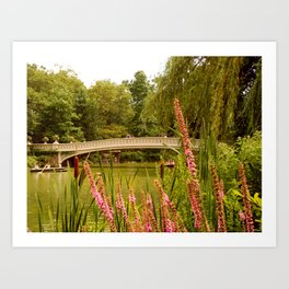 Beau Bow Bridge (Central Park, New York) Art Print