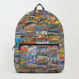Greetings From Postcards Backpack