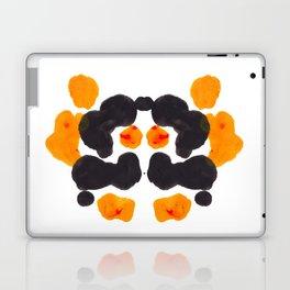 Orange & Black Inkblot Rorschach Diagram Laptop & iPad Skin