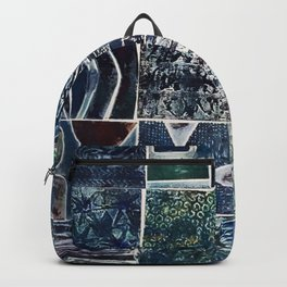 Quilt of a Sort in Blue Backpack