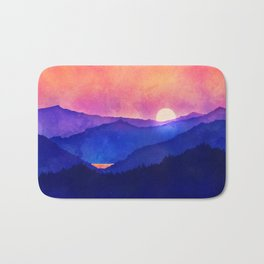 Cobalt Mountains Bath Mat