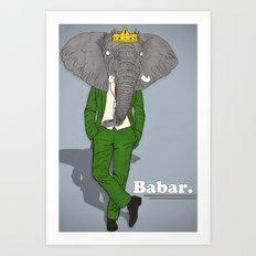 Babar Art Print