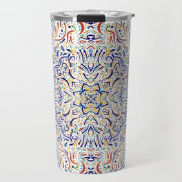 Coloful Doodle Travel Mug