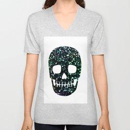 glitter skull Unisex V-Neck