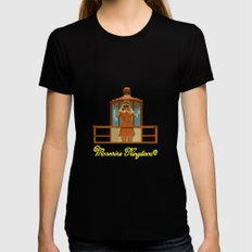 Moonrise Kingdom 8 bits Black Womens Fitted Tee MEDIUM