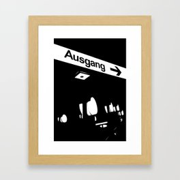 Berlin / Ausgang Framed Art Print