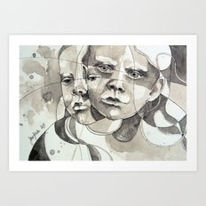 Made of two Art Print