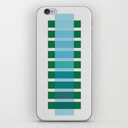 NUANCIER BLEU ET VERT iPhone Skin
