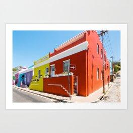 Colorful Bo-Kaap area of Cape Town Art Print