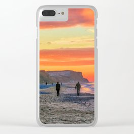 Cromer Beach at Sunset Clear iPhone Case