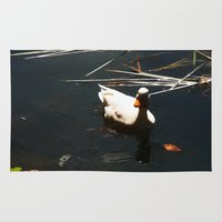duck Area & Throw Rugs featuring Duck by Ellyne