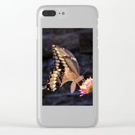 Swallowtail Overexposed Clear iPhone Case
