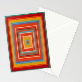 """Blood Orange Fizzle""   Op art Stationery Cards"