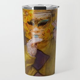 Lady in Yellow Travel Mug