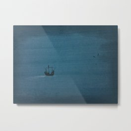 Ship on the Ocean Metal Print