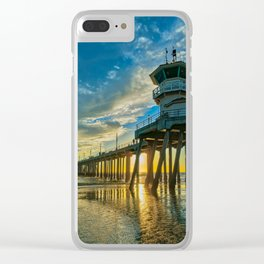 Textured Sand at Sunset Clear iPhone Case