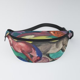 Three Horses by Franz Marc Fanny Pack
