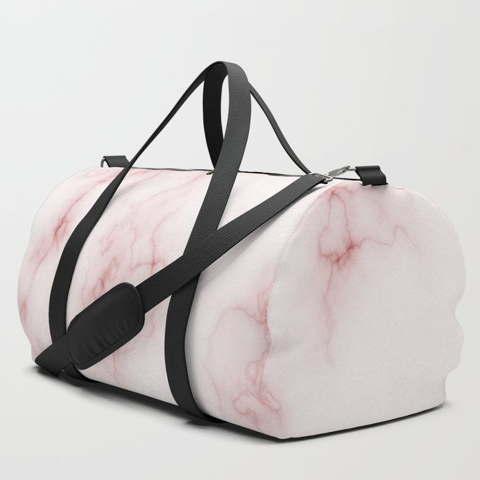 Amazing Light Marble with Coral Veins Duffle Bag