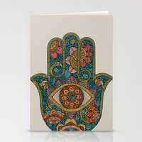 hamsa Stationery Cards featuring Hamsa by Valentina Harper