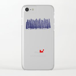 Alone in the forest Clear iPhone Case