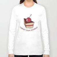 cake Long Sleeve T-shirts featuring cake by Irina  Romanovsky