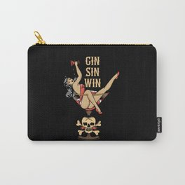 Gin Sin Win Vintage Drinking Woman Carry-All Pouch