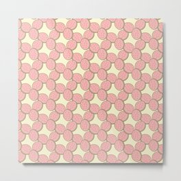 Pink Lemonade Circle Cookies Metal Print