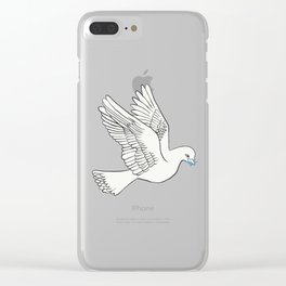Whatsapp's Carrier Pigeon Clear iPhone Case