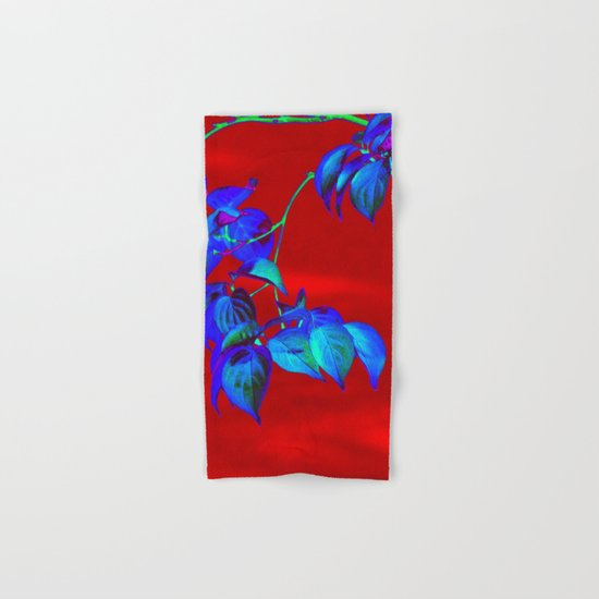 Red Sky And Blue Leaves Hand & Bath Towel
