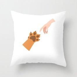 Pet Owner Cat Lover Cute Kitten Animal Lover Throw Pillow