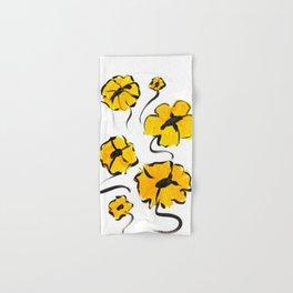 Yellow and Black Flower design Hand & Bath Towel