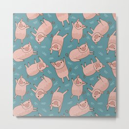 Pattern Project #52 / Piglets Metal Print
