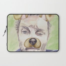 Rob Benedict, watercolor painting Laptop Sleeve