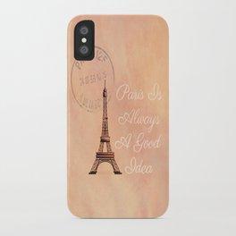 Vintage Paris is Always a Good Idea  iPhone Case