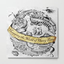 Harry's Map Metal Print