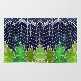 Magical Mountain Forest Rug